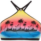 Agent Provocateur Cassidy Embroidered Halterneck Bikini Top - Pink