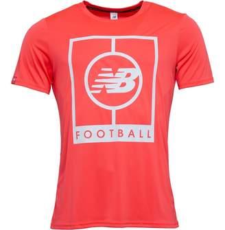 New Balance Mens Elite Tech Graphic Logo T-Shirt Bright Cherry
