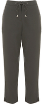 Mint Velvet Zip Sports Cropped Trousers