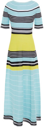 Lanvin Striped Cotton-blend Midi Dress