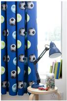 Catherine Lansfield Football Pleated Curtains In Blue