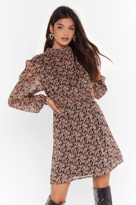Nasty Gal Womens Everything Will Be Bouquet Floral Mini Dress - Black - 4, Black