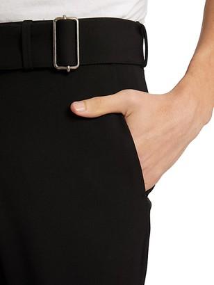 Dries Van Noten Palon Belted Straight-Leg Trousers