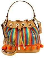 Milly Pom-Pom Leather Shoulder Bag