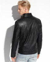 GUESS Coats, Lightweight Faux Leather Moto Jacket
