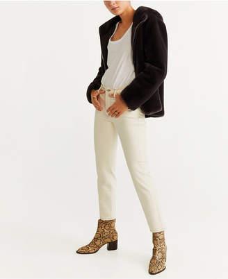 MANGO Hooded Faux Fur Jacket