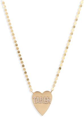 Lana Taken Heart Diamond Pendant Necklace