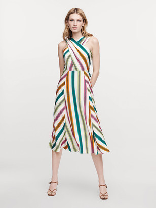 Diane von Furstenberg Mireille Silk Crepe de Chine Midi Dress