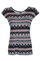 Select Fashion Fashion Womens Multi Festival Row Tee - size 6