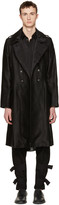 Ann Demeulemeester Black Military Button Coat