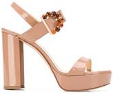 Chloé Gosselin Tori beaded-buckle platform sandals