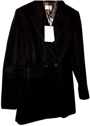 Alaia Black Velvet Coat for Women