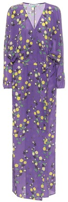 BERNADETTE Stella floral silk maxi dress