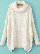 chunky cable knit sweater - ShopStyle