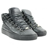 Black Leather Trainers Arena