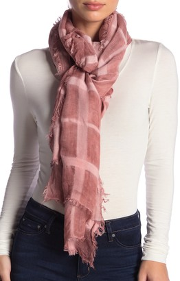 Melrose and Market Windowpane Printed Gauze Scarf