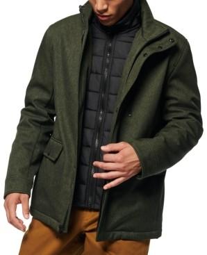 Andrew Marc Men's Mullins Melange Tech Funnel Collar Jacket