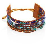 Chan Luu Multi Bead Mix Leather Strand Bracelet
