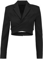 Marc by Marc Jacobs Cropped cotton-blend piqué blazer