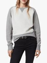 AllSaints Deecie Mix Sweatshirt, Grey Marl