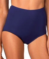 Leilani Navy Hamptons High-Waist Bikini Bottoms
