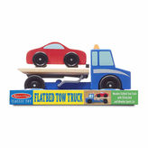 Melissa & Doug 2-pc. Flatbed Tow Truck