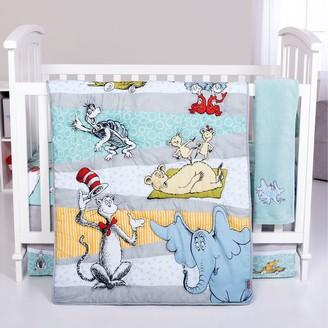 Trend Lab Dr. Seuss Book Club 4 Piece Crib Bedding Set
