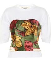 Junya Watanabe Silk bustier cotton T-shirt