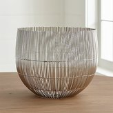 Crate & Barrel Newbury Silver Centerpiece Bowl