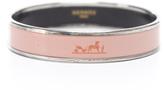 Hermes Pink Enamel Silver 65 Bangle Bracelet
