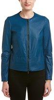 Anne Klein Women's Zip-Front Leather Jacket