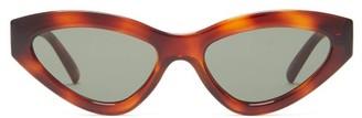 Le Specs Synthcat Cat-eye Acetate Sunglasses - Womens - Tortoiseshell