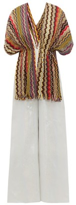M Missoni Vintage-scarf Lame Jumpsuit - Womens - Yellow Multi