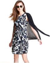 Joe Fresh Women's Print Shift Dress, White (Size XS)
