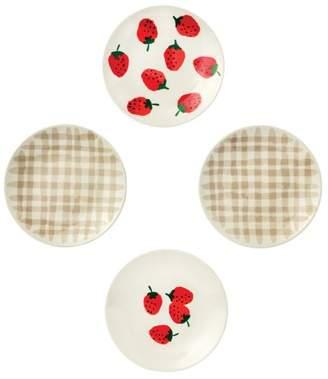 Kate Spade Strawberries Tidbit Plates, Set of 4