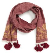 Madewell Women's Embroidered Herringbone Wool Scarf