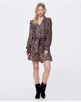 Paige Cleobelle Dress - Shale Psychedelic Leopard