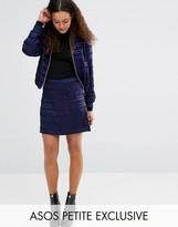 Asos A-Line Skirt In Satin Stripe Co-Ord