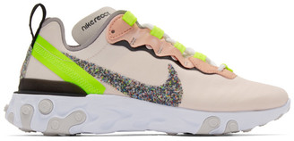 Nike Pink React Element 55 Premium Sneakers