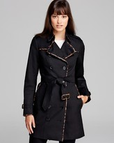 Burberry Trench - Animal Printed Leather Trim