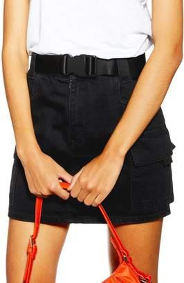 Topshop Belted Cargo Miniskirt