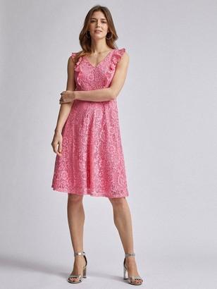 Dorothy Perkins Lace Taylor Midi Dress - Rose