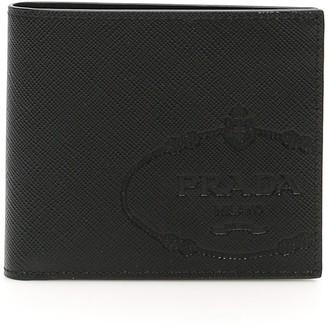 Prada Logo Embossed Bifold Wallet