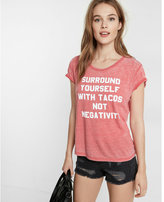 Express Tacos Boxy Crew Neck Graphic Tee