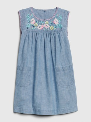 Gap Toddler Embroidered Chambray Dress