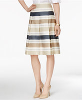 Charter Club Striped Pleated A-Line Skirt, Only at Macy's
