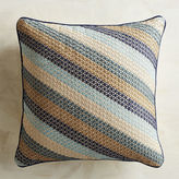 Pier 1 Imports Explorer's Society Blue Diagonal Stripe Pillow