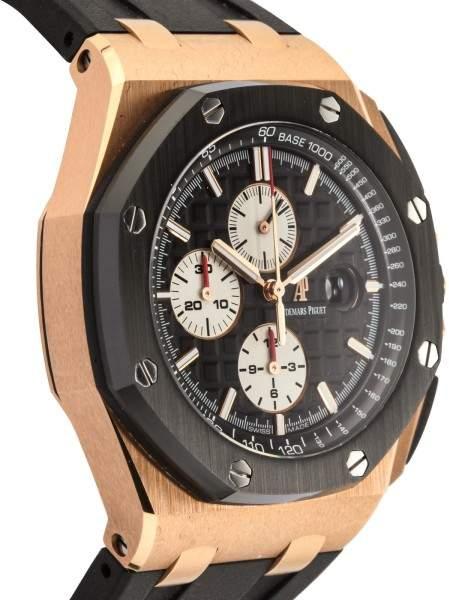 Audemars Piguet Royal Oak Offshore 26401.RO.OO.A002.CA.01 18K Rose Gold and Rubber 44mm Men's Watch