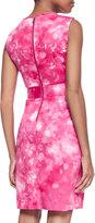 T Tahari Malone Sleeveless Printed Dress