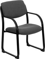 Flash Furniture BT-508-GY-GG Fabric Executive Side Chair with Sled Base